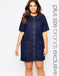 Alice And You Denim Shirt Dress With Pocket Indigo