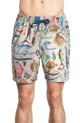 Men's Sperry Fish Print Swim Trunks