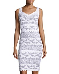 Alberto Makali Graphic Print Bandage Dress White Black