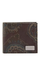 Ted Baker Paydays Paisley Bifold Wallet Multi