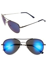 Women's Bcbgmaxazria 55Mm Aviator Sunglasses Navy