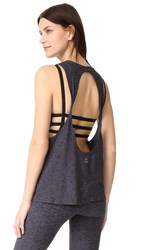 Beyond Yoga Featherweight Tank Black Steel