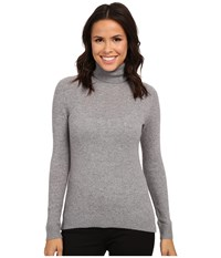 Pendleton Turtleneck Soft Grey Heather Women's Long Sleeve Pullover Gray