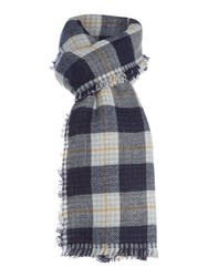 Marella Termoli Checked Scarf Navy