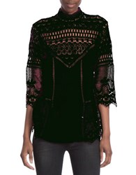 Plenty By Tracy Reese Victorian Blouse Black