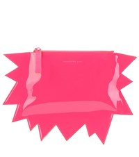 Christopher Kane Patent Leather Clutch Pink