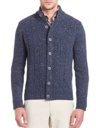 Saks Fifth Avenue Wool And Cashmere Sweater Blue