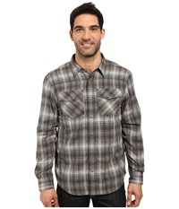 Prana Asylum Flannel Gravel Men's Long Sleeve Button Up Silver