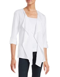 Context Open Front Cardigan True White