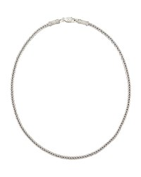 Sterling Silver Chain Necklace 24' Konstantino Red