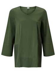 John Lewis Kin By Trapeze Sleeve Top Green