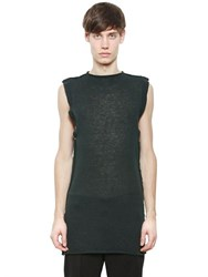 Damir Doma Sleeveless Sheer Mohair Blend Sweater