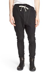 Drifter Men's 'Agile' Drop Crop Jogger Pants Heather Black