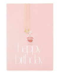 Lydell Nyc Clover Necklace With Happy Birthday Card Gold