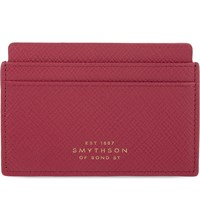 Smythson Panama Cross Grain Leather Card Holder