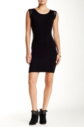 Ontwelfth Bodycon Sweater Dress With Vegan Faux Leather