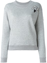 Sonia Rykiel 'Heart' Patch Longsleeved Sweatshirt Grey