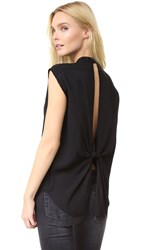 Helmut Lang Back Knot Shirt Black