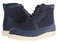 Native Fitzroy Regatta Blue Bone White Lace Up Boots