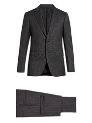 Lanvin Attitude Fit Prince Of Wales Checked Wool Suit Blue