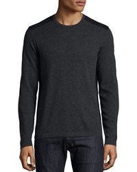 John Varvatos Star Usa Wool Crewneck Sweater Charcoal Grey