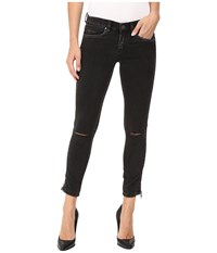 Blank Nyc Zipper Detail Jeans In Wicked Hard Grey Black Women's Jeans Gray