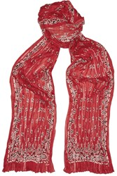Saint Laurent Bandana Printed Cashmere And Silk Blend Scarf