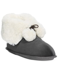 Cuddl Duds Snuggle Up Slipper Booties Gray