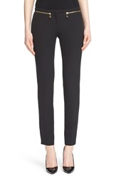 Women's Versace Collecction Zip Detail Skinny Cady Ankle Pants