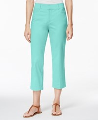 Jm Collection Petite Cropped Twill Pants Only At Macy's