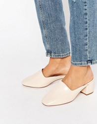 Asos Speed Up Mules Nude Beige