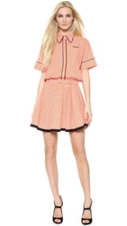 N 21 Checkered Day Dress Orange