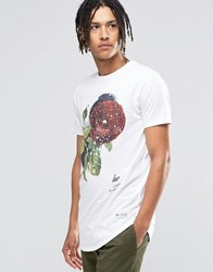 Hype T Shirt With Speckle Rose Print White