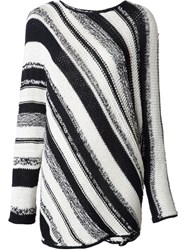Spencer Vladimir Striped Knit Sweater Black