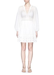 Zimmermann 'Realm' Floral Lace Embroidery Dress White