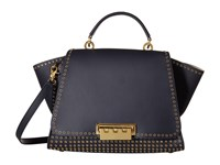 Zac Posen Eartha Iconic Soft Top Handle Navy Top Handle Handbags
