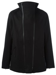 Y 3 Funnel Neck Double Zip Jacket Black