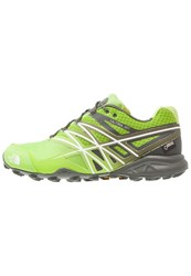 The North Face Ultra Mt Gtx Trail Running Shoes Lime Green White