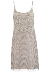Adrianna Papell Cocktail Dress Party Dress Bronze Silver