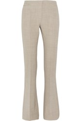 Max Mara Farnese Stretch Wool Flared Pants Beige