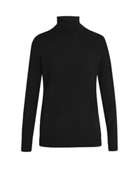 Equipment Oscar Roll Neck Cashmere Sweater Black