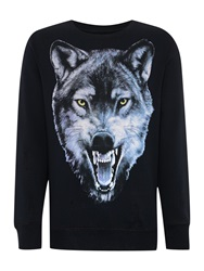 Diesel Graphic Crew Neck Pull Over Jumpers Black