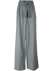 Msgm Belted Palazzo Pants Grey
