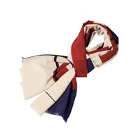 Infinity Scarf Paris Red And Marine