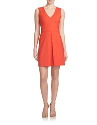 1.State Cutout Back Fit And Flare Dress Flame