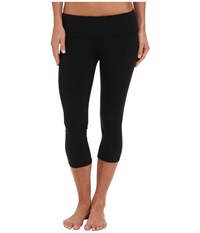 Alo Yoga Airbrushed Capri Black Women's Workout