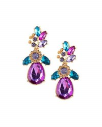 Fragments For Neiman Marcus Statement Floral Crystal Drop Earrings Multi