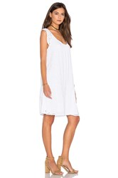 Velvet By Graham And Spencer Airlina Rayon Eyelet Shift Dress White