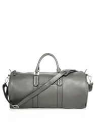 Uri Minkoff Pebbled Leather Duffle Bag Elephant