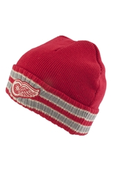 American Needle 'Detroit Red Wings Slash' Knit Hat Red Grey Ivory